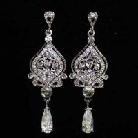 Vintage Crystal Chandelier Earrings | eBay