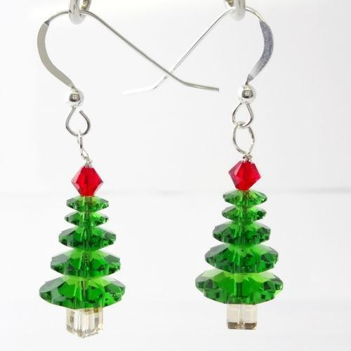 Swarovski Christmas Tree Earrings eBay