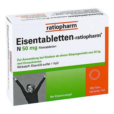 EISENTABLETTEN ratiopharm N 50 mg Filmtabl. 100St PZN 06957905