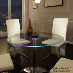 Large Kitchen Table How To Refinish Sink Round Dining Ebay Led Glass Modern Lights Living Room Furniture