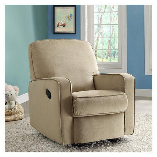 modern black leather recliner chair white resin lounge chairs swivel glider | ebay