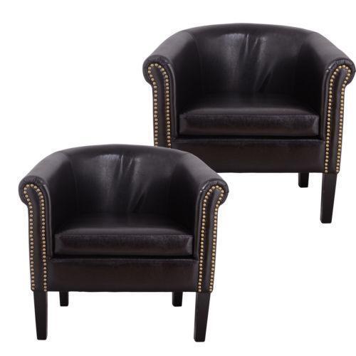 Black Leather Club Chair  eBay