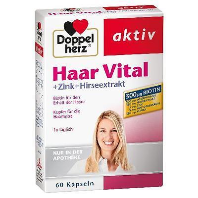 DOPPELHERZ Haar Vital+Zink+Hirseextrakt Kapseln 60 St PZN 7263599