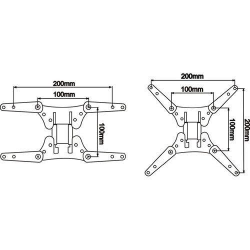 Small TV Mount Adapter VESA 100 x 100 to 200 x 200