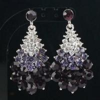 Purple Chandelier Earrings