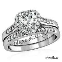 1-75-Ct-Heart-Shape-CZ-Wedding-Engagement-Ring-Set-Womens ...