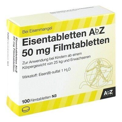 EISENTABLETTEN AbZ 50 mg Filmtabl. 100St PZN 06683738