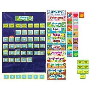 Calendar pocket chart also school supplies ebay rh