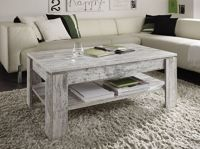 Vintage Rustic Coffee Table Shabby Chic Grey White Wooden ...