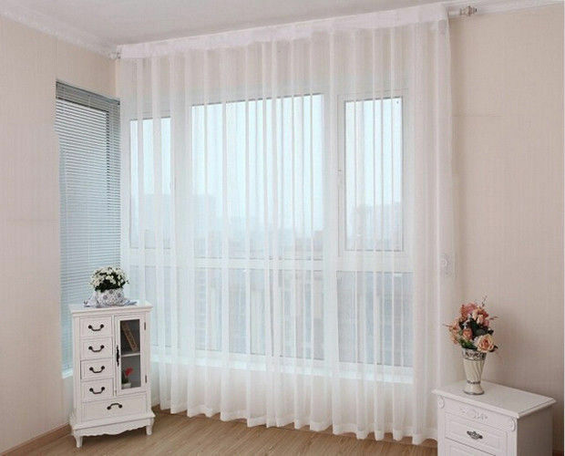 How To Fit Voile Curtains EBay