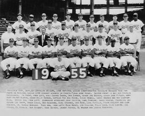 1955 BROOKLYN DODGERS World Series Champions Champs Glossy