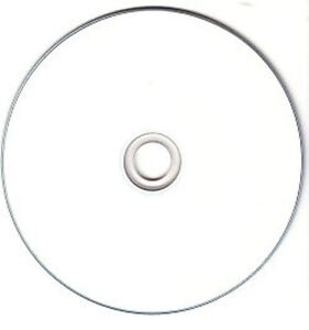 50 Printable 52X CD-R 80min 700MB Discs Disc White Full