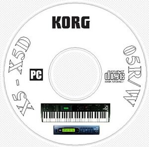 Korg X5 X5D 05R/W Synth Sound / Patch Library, Manual MIDI