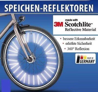 Speichenreflektoren 72 Stk für 1 Fahrrad 3M™-Scotchlite™-Reflexmaterial ORIGINAL