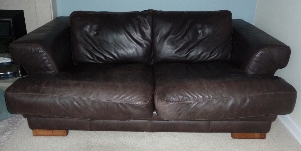 recliner chairs gumtree arm chair covers australia giovanni sforza collection italian dark brown leather 2 & 3 seater sofas | in bournemouth ...