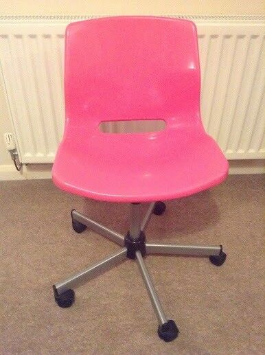 pink swivel chair pedicure stool uk for office or bedroom in melton mowbray