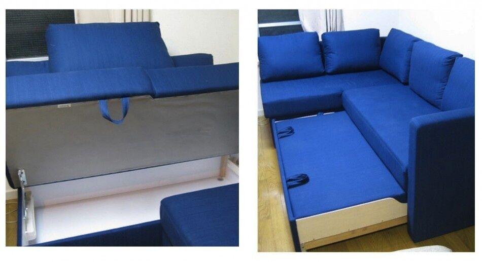 Fagelbo ikea corner sofa bed with storage  in Wood Green
