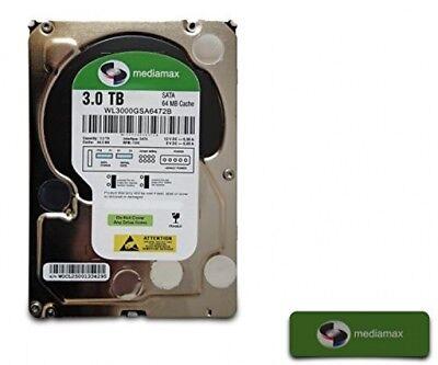 Mediamax 3TB 3000GB WL3000GSA6472G 3,5