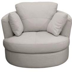 Swivel Cuddle Chair York Danish Lounge Plans Milano Grey Grain Leather Seat In North