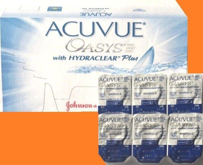 Acuvue OASYS Hydraclear PLUS 1×6 Einzellinsen Non-Stop- 2-Wochenlinsen 8,8 !!