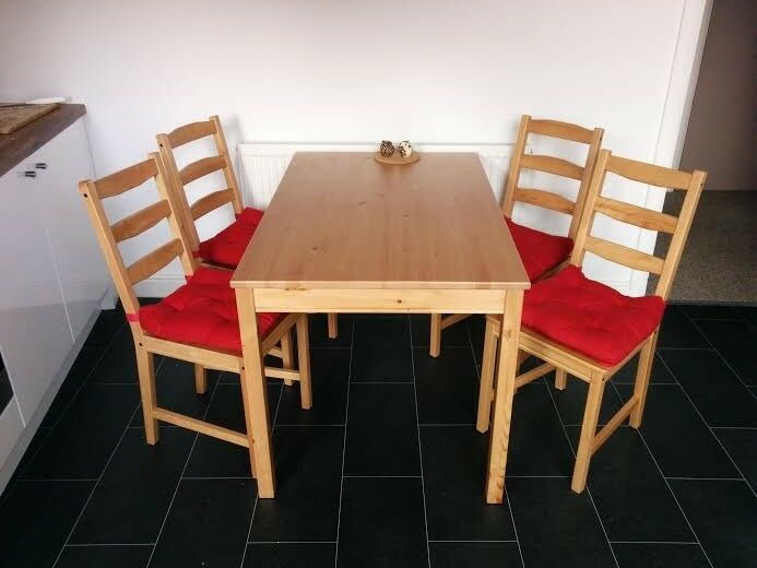 white folding chairs ikea christmas wedding chair covers dining set jokkmokk, table and great condition with pillows! | in levenshulme ...