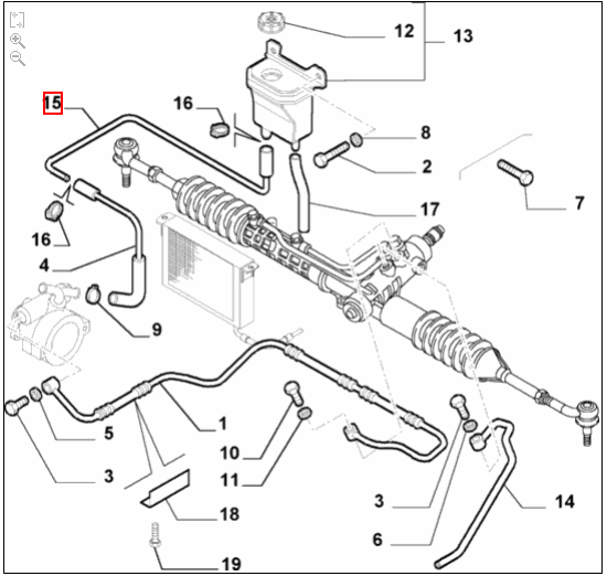 Genuine New Alfa Romeo 147 GTA/GT Power Steering Reservoir