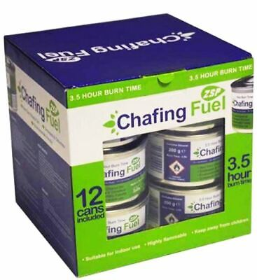 12 Chafing Dish Fuel Gel Cans 3.5 Hour Burn Time Each Chafing Caterers Tins