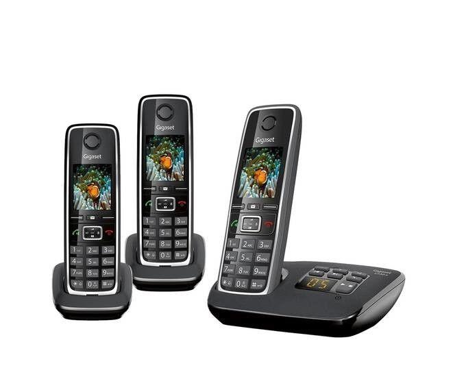 Gigaset C530A Trio-Schnurlostelefon mit Anrufbeantworter incl. 3 Mobilteilen-wn