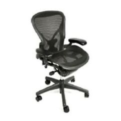 Aeron Chair Manual Wheelchair Parking Size A Chairs Ebay Herman Miller All Features Plus Adjustable Posturefit
