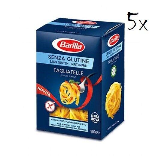 5x Barilla Tagliatelle 300g senza Glutine Glutenfrei und ohne Eier pasta nudeln
