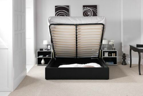 4FT6-5FT-STANDARD-OR-OTTOMAN-STORAGE-LEATHER-BED-BLACK-BROWN-WHITE-WITH-MATTRESS