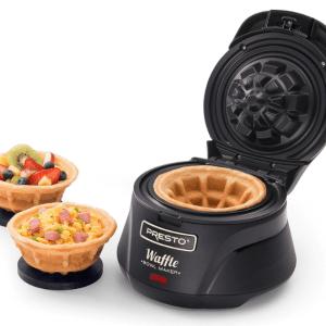 Presto 03500 Belgian Bowl Waffle Maker, Black