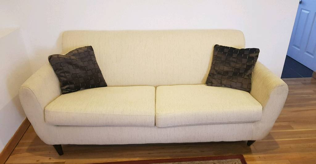 3 seater fabric sofa blue chair cover 2 and in mountain ash rhondda cynon taf