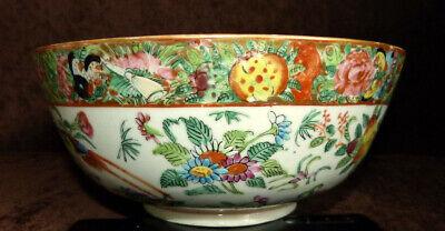 Antique Chinese export porcelain Famille Rose Mandarin bowl 19th century Nr 2