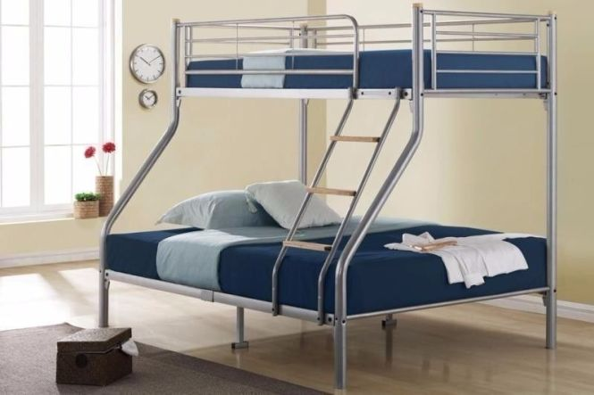 Triple Metal Bunk Bed With Mattress Options Same Day Delivery All Over London