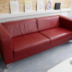 Eq3 Stella Sofa Dimensions Fabrics Online Buy Or Sell A Couch Futon In Winnipeg Kijiji Classifieds Leather Carnival Red Excellent Condition
