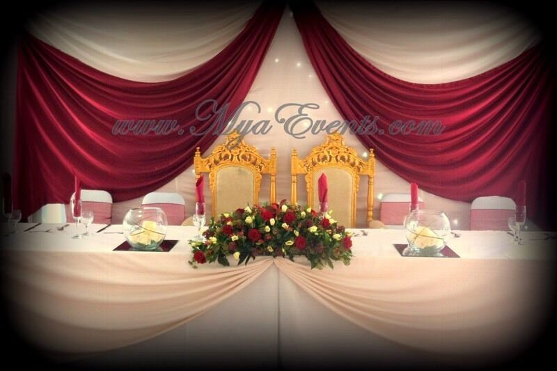 wedding decorations chairs receptions childrens table and chair set wooden gold candelabra hire charger plate rental london cover 79p reception decora in stratford gumtree