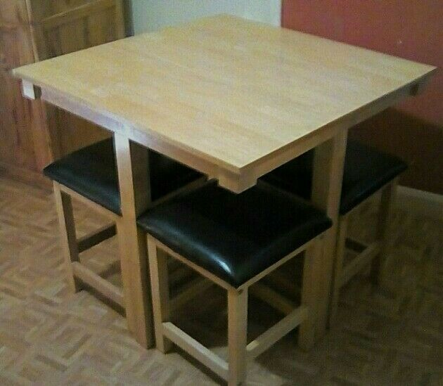 space saver kitchen table and chairs designs pictures dining set in widnes cheshire gumtree