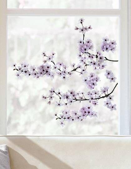 Fenstersticker Kirschblüte Fensterbild Blumen Blüten
