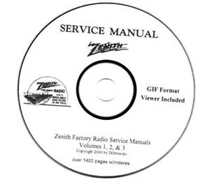 Zenith-Radio-Service-Manuals-Volumes-1-2-3-on-CD