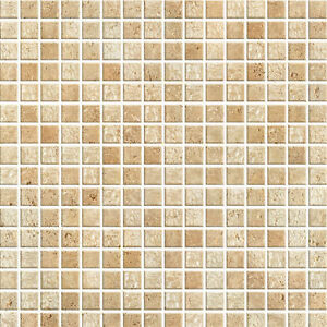 Brown Mosaic Tile Effect Self Adhesive Wallpaper Vinyl