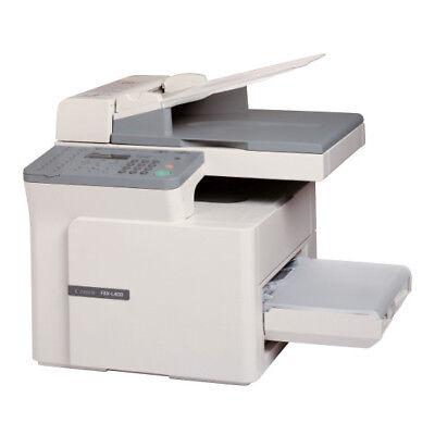 Canon FAX-L400 Laser Faxgerät Kopierer Scanner Drucker SW A4 USB