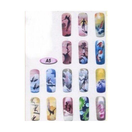 airbrush stencil design nail art