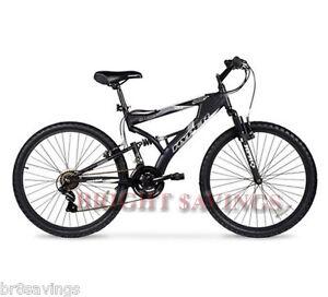 Men's Mountain Bike Black Aluminum Frame Bicycle Shimano