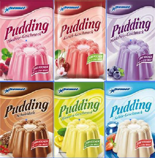 (1Beutel=0,60€) Komet Pudding Mix 6er - Ostprodukte, Puddingpulver zum kochen 1