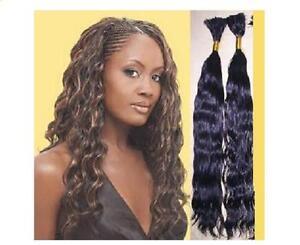 22 wavy remy human hair braiding bulk extensions 2oz