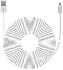 Security Camera USB Power Cable Cord White 20Ft (For Nest