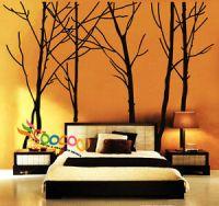 Wall Decor Decal Sticker vinyl large tree trunk forest | eBay
