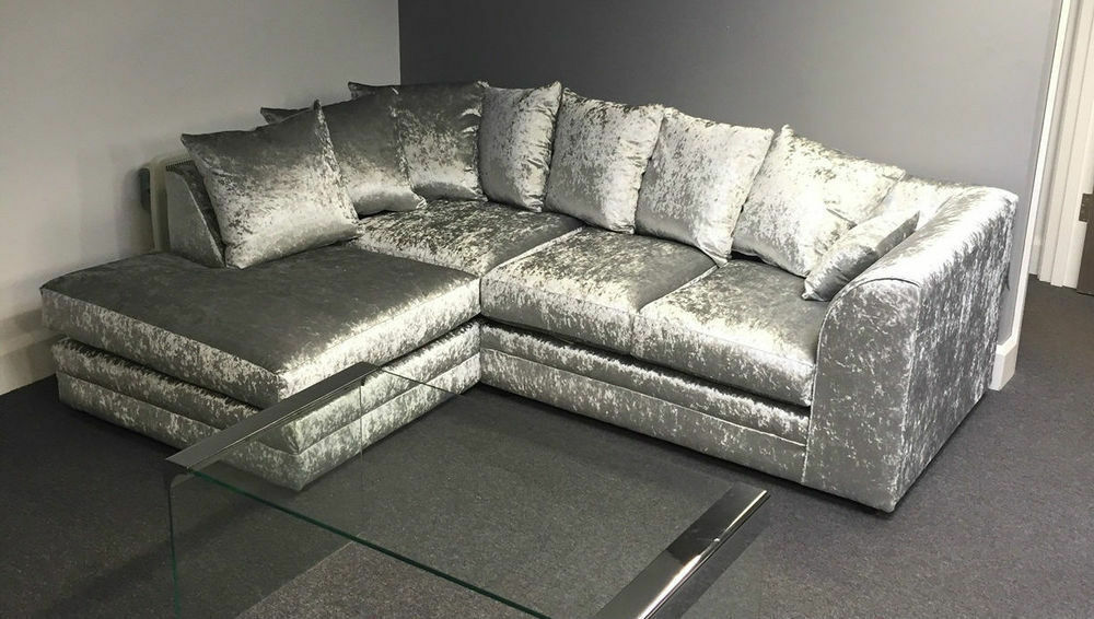 corner sofas glasgow gumtree office and chairs crushed velvet unit or 3 2 in moston manchester