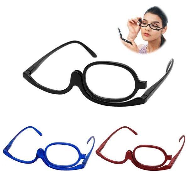 Schminkbrille, Schminkhilfe, Make up, Glas umklappbar- Dioptrien (+1 bis+4) ESB